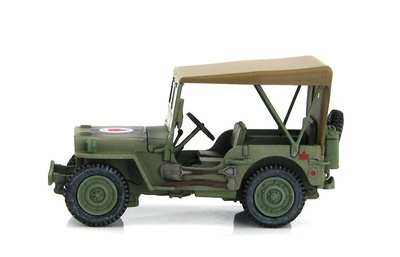 US Willys Jeep 39R Wing, 400 Sqn., RCAF, Dinamarca, Julio, 1945, 1:48, Hobby Master
