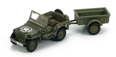 "US Willys Jeep MB 2e Division Blindee, ""KSAR-RHILANE"", 1:72, Hobby Master"