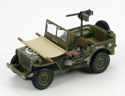 "US Willys Jeep ""Short Stop"", 88th Infantry Div., 351 Infantry Regt., ItalIa, 1944 y 1945, 1:48, Hobby Master"