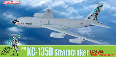 "USAF KC-135D, Stratotanker, 117th ARS ""40th Anniversary"", 1:400, Dragon Wings"