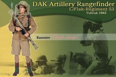 """Ulrich Schafer"", DAK Artillery Rangefinder, I./Flak-Regiment 53, Tobruk, 1942, 1:6, Dragon Figures"