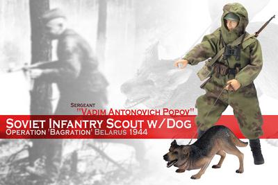Vadim Antonovich Popov + perro, 1944, 1:6, Dragon Figures