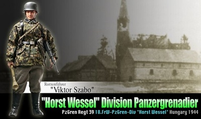 """Viktor Szabo"" (Rottenführer) Horst Wessel Division Panzergrenadier, Pz.Gren Regt 39, Hungría, 1944, 1:6, Dragon Figures"