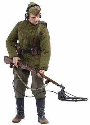 Vladimir Petrovich Kozlov (Private), Soviet Infantry w/Mine Detector, Eastern Front 1943, 1:6, Dragon Armor