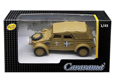 Volkswagen Kübelwagen Type 82, Afrika Korps, 1941, 1:43, Cararama