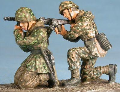 """Waffen SS """"Hohenstaufen"""" MG-42 crew, Arnhem, 1944, 1:48, Gasoline"""