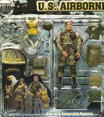 Warren Marcus, paracaidista 101 División Aerotransportada, 2ª G.M., 1:18, Elite Force