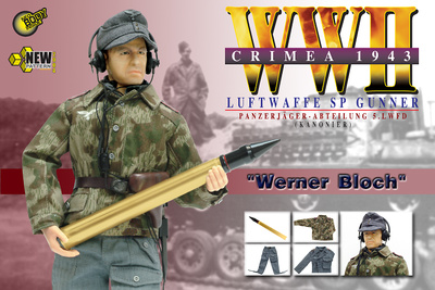 """Werner Bloch"", Luftwaffe SP Gunner, Panzerjager-Abteilung 5, Luftwaffe Field Division, Crimea, 1943, 1/6, Dragon Figures"