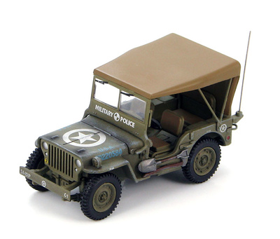 Willys Jeep MB 5th Army, 101st Military Police, Battalion C Company No.1, Italia, 1945, 1:48, Hobby Master