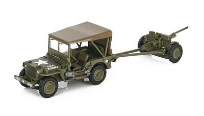 Willys Jeep con cañón anti-tanque de 37mm, 3º Batallón, 1º Regimiento, 1ª División, Túnez, 1943, 1:72, Hobby Master