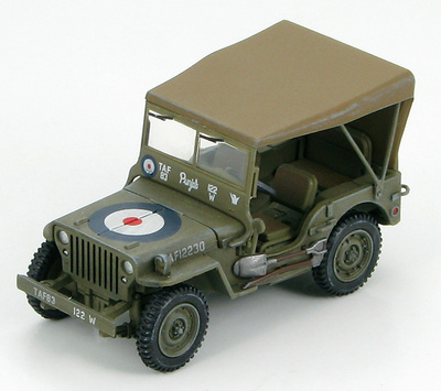 Willys MB Jeep RAF 12230, WWII, 1:48, Hobby Master
