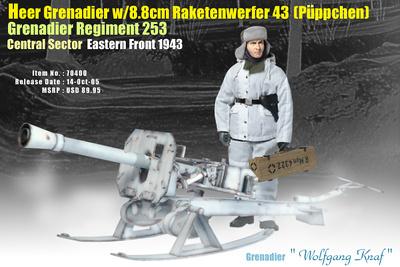 Wolfgang Knaf, Heer Grenadier with 8.8cm Raketenwerfer 43 (Puppchen), 1:6, Dragon Figures