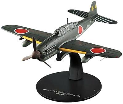 Yokosuka Aichi D4Y2 Suisei, Modelo 12, 2ª G.M., Armada Japonesa, 1:72, Altaya