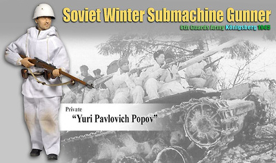 """Yuri Pavlovich Popov"", Soviet Winter Submachine Gunner, 6th Guards Army, Konigsberg, 1945, 1:6, Dragon Figures"